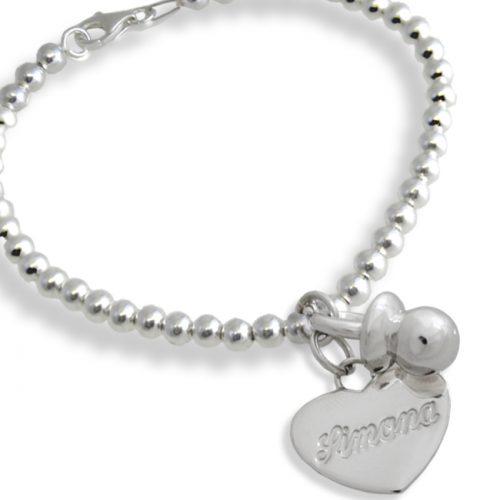 braccialetto ciuccio cuore