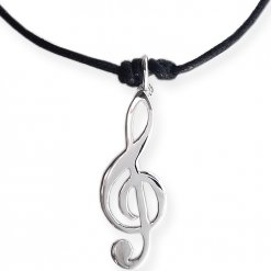 chiave di violino ciondolo argento