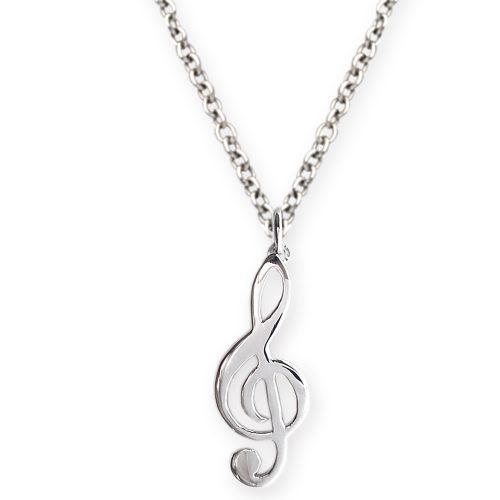 collana con ciondolo chiave di violino