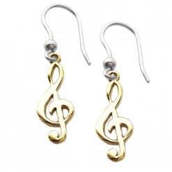 orecchini chiave di violino dorate oro giallo