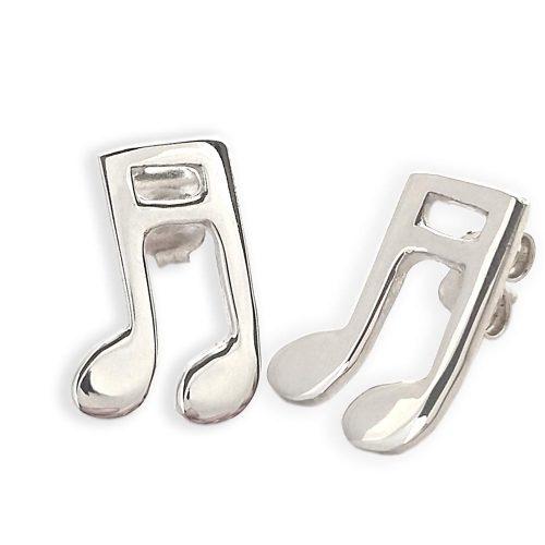orecchini in argento con nota musicale