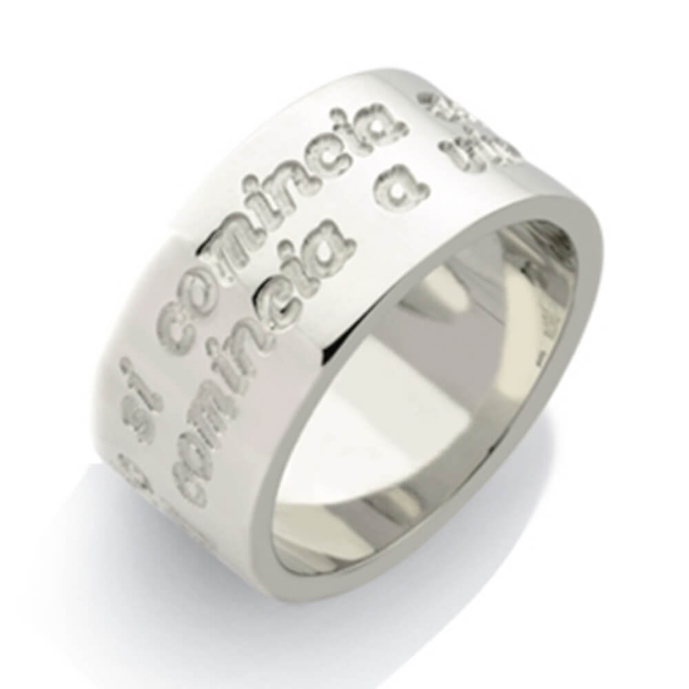 Los Angeles 1713f 70e1d Anello con frase incisa, anello personalizzato con le tue parole