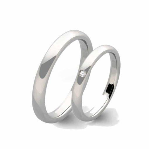 anello 9 carati con diamante