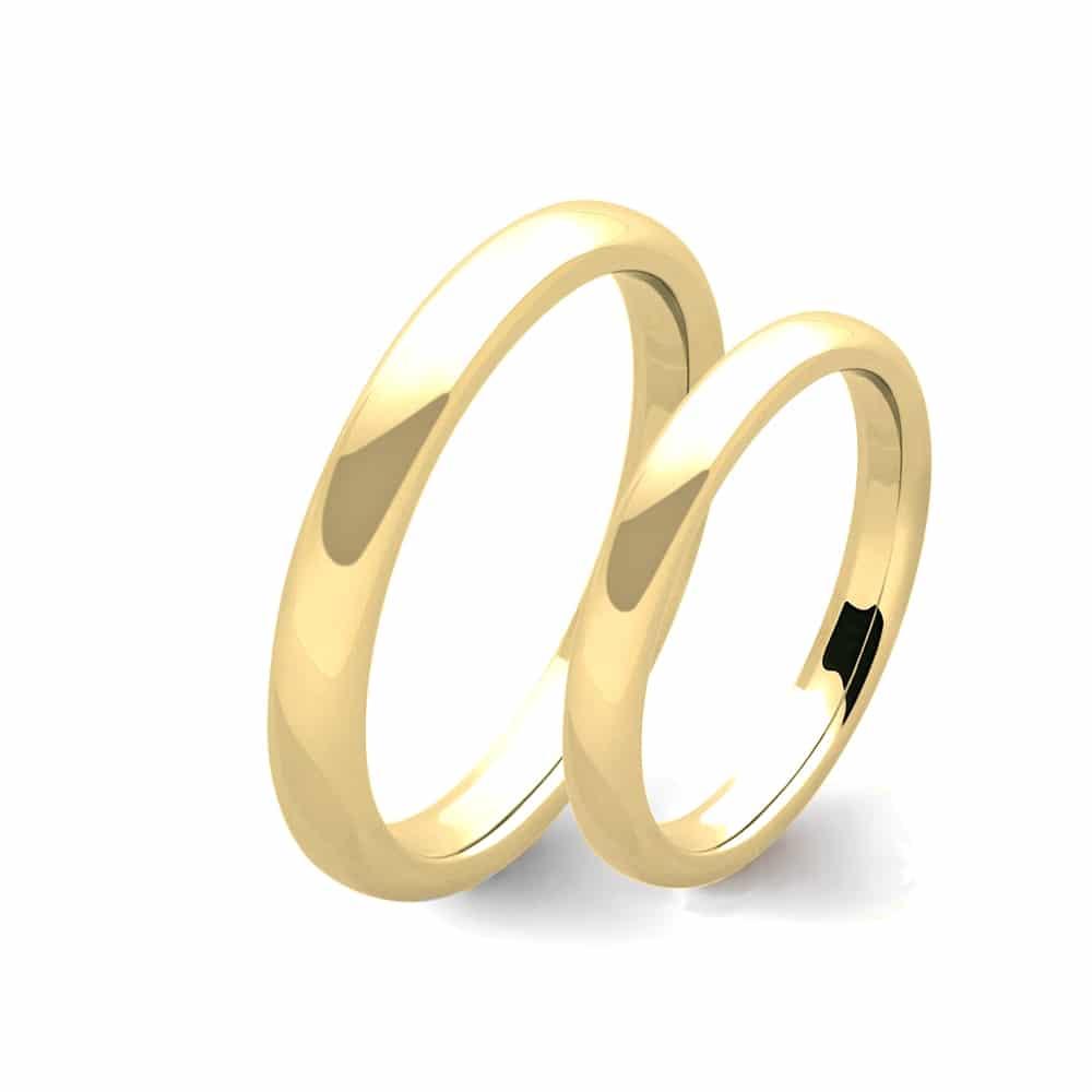 metà fuori 27bae 855ce Coppia di fedi in oro giallo 9 carati - Flores Gioielli