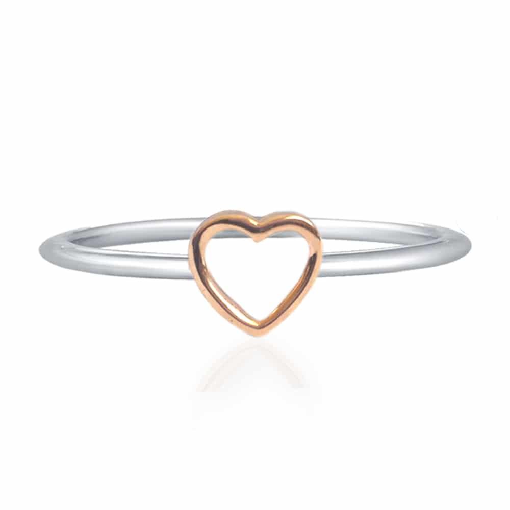 anello pandora cuore rosa