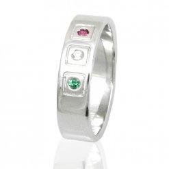 anello uomo argento. anello con tricolore