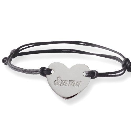braccialetto nome cuore