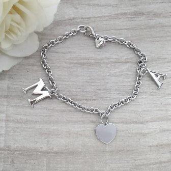 braccialetto lettere