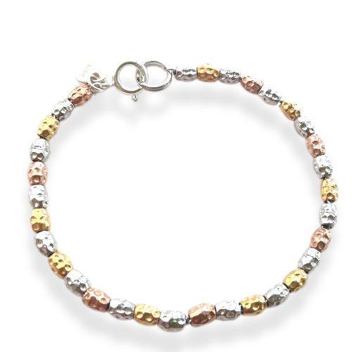 braccialetto pepite colorate
