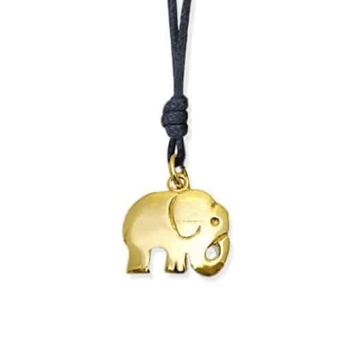 ciondolo elefantino orogiallo9kt