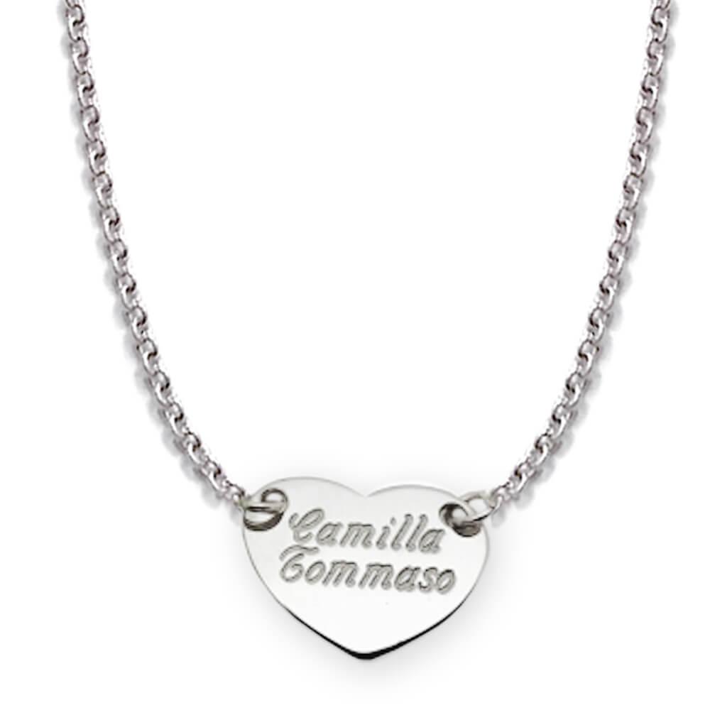 rivenditore online 99301 fe454 Collana ciondolo cuore personalizzato - Flores Gioielli