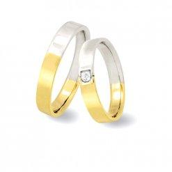 fedi matrimoniali oro bianco e giallo