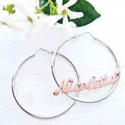 orecchini con nome