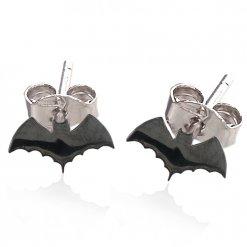 orecchini argento pipistrelli