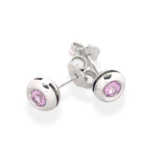 orecchini pietra rosa