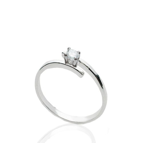 anello solitario donna