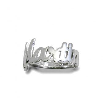 anello in argento con nome