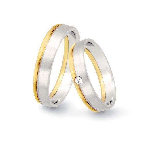 fedi oro bianco satinato e oro giallo
