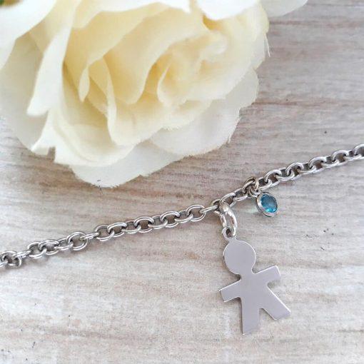 braccialetto bimbo cristallo