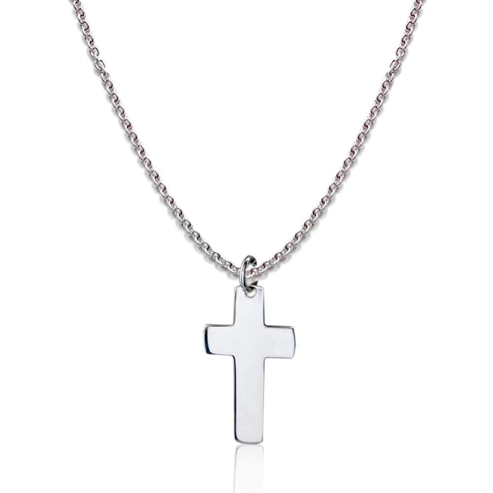 Collana In Argento Con Croce Pendente Flores Gioielli