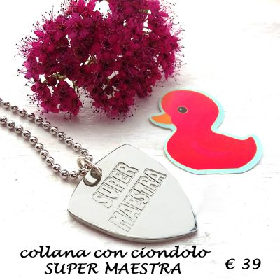 collana in argento maestra