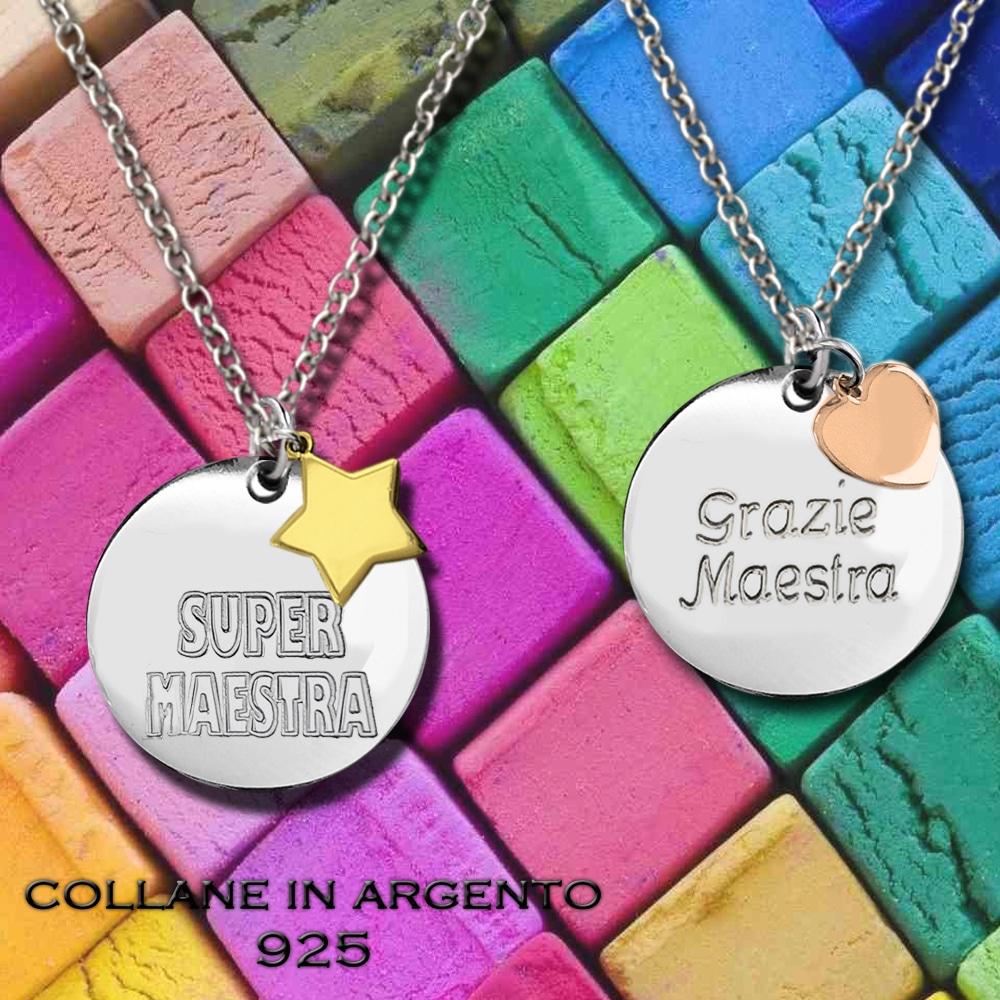Regalo per le maestre - Collane in argento