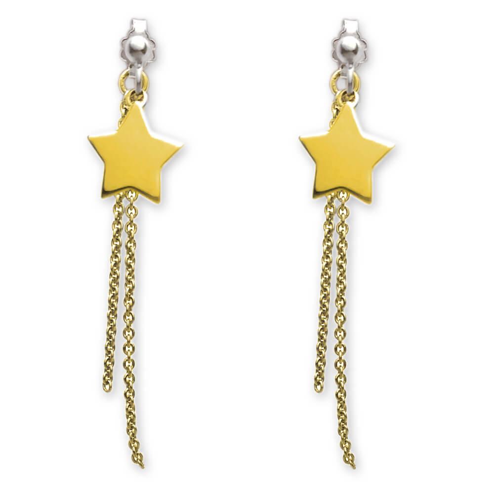 orecchini stella dorata