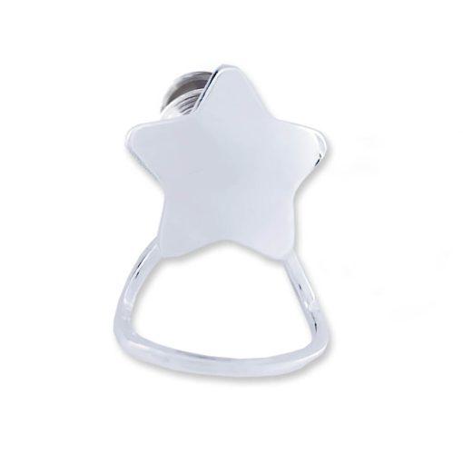 Portaocchiali in argento 925 a forma di stella