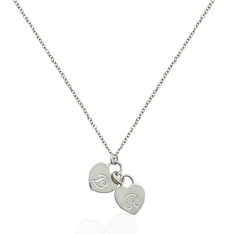 Collana in argento 925 rodiato con NOME personalizzabile TUTTI I NOMI POSSIBILI