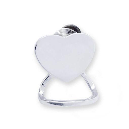 Portaocchiali in argento 925 con cuore personalizzabile