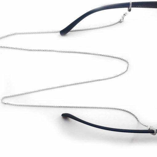 Catenella gioiello in argento 925 rodiato per occhiali