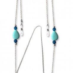 Catenella gioiello in argento 925 e pietre per occhiali