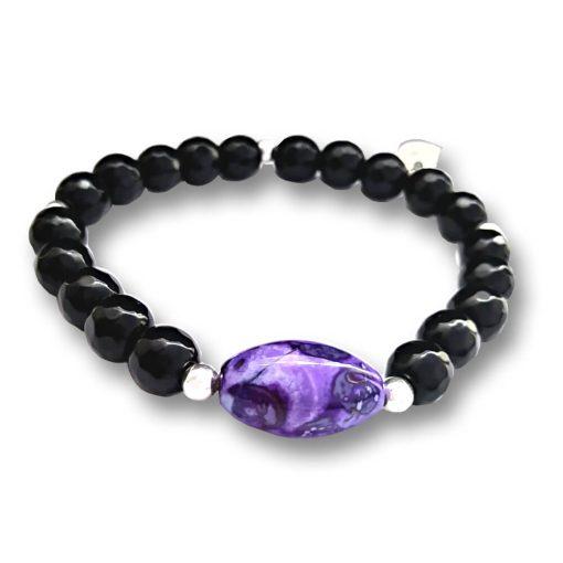 braccialetto cristalli agata