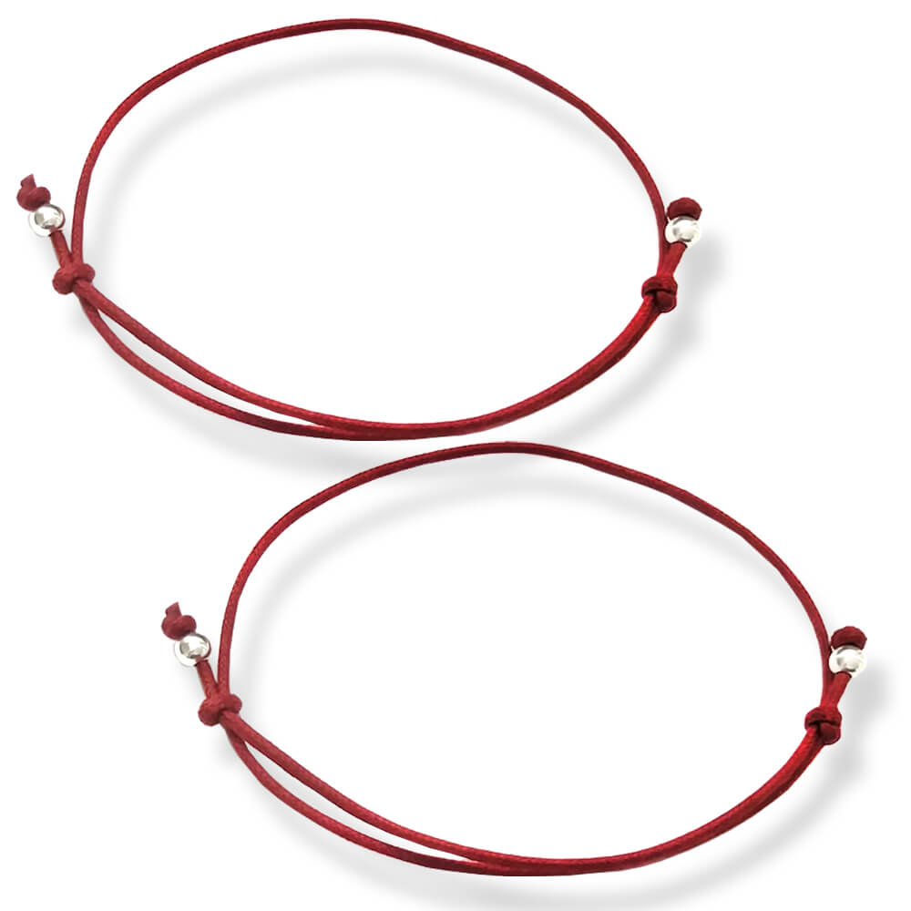 coppia braccialetti rossi