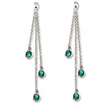 orecchini- cristalli-verdi
